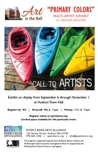 "River's Edge Arts Alliance - Call to Artists ""Primary Colors"""