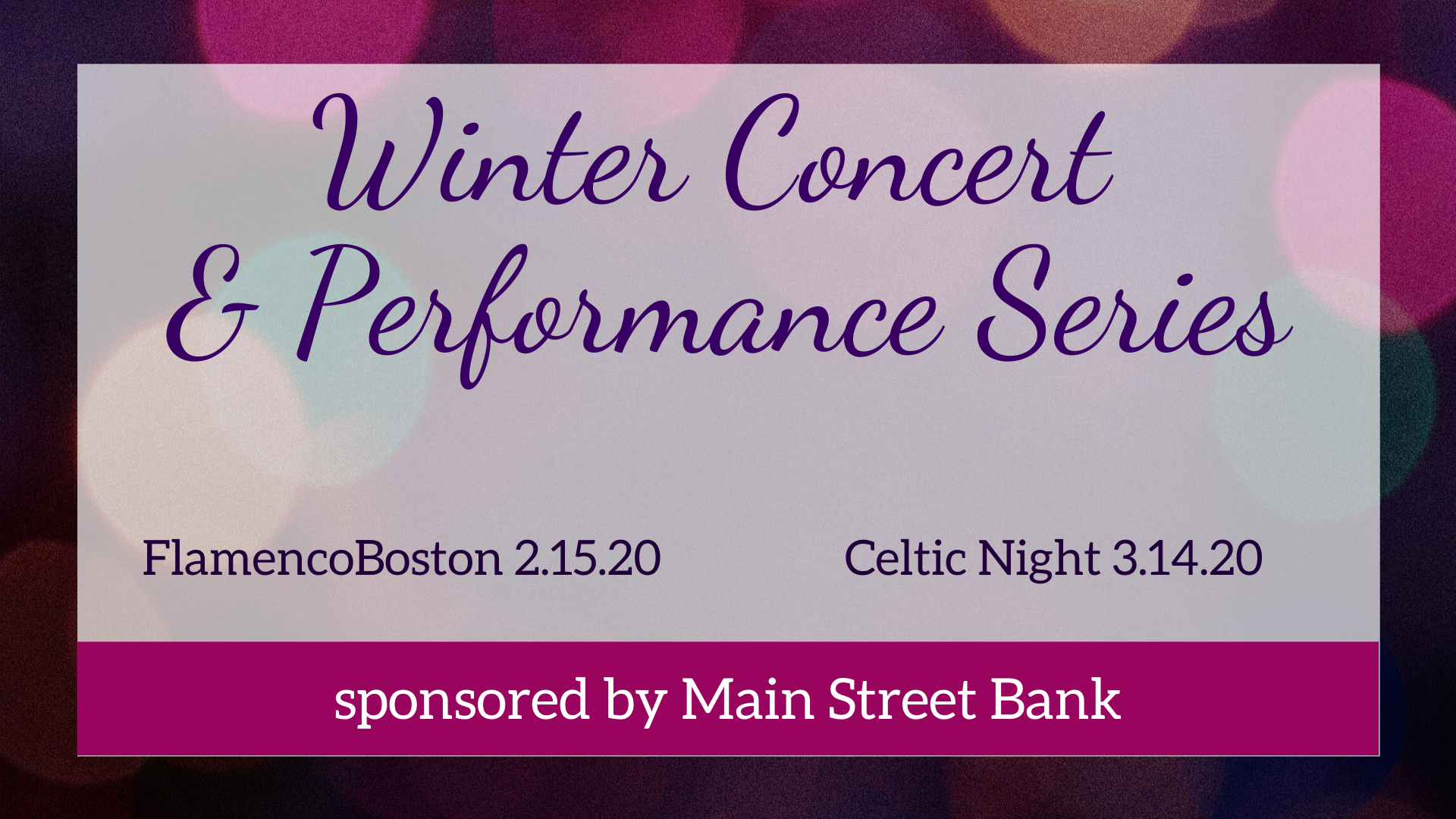 On Sale Now: Winter Concert & Performance Series